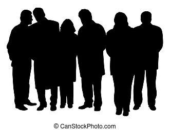 pessoas negócio, grupo