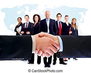 pessoas negócio, handshake.
