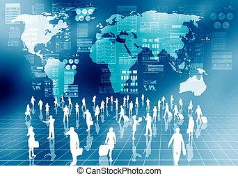 pessoas, negócio internet