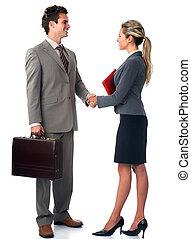 pessoas negócio, meeting.