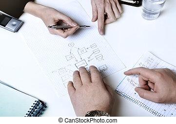 pessoas negócio, planificação