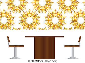 pessoas negócio, reunião, sentando, silueta