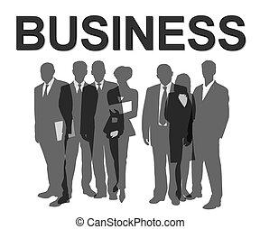 pessoas negócio, silhuetas