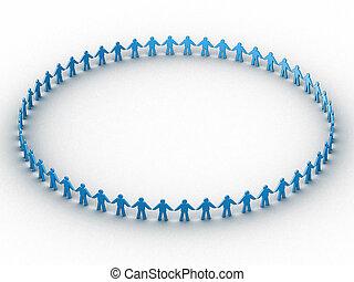 pessoas num, círculo