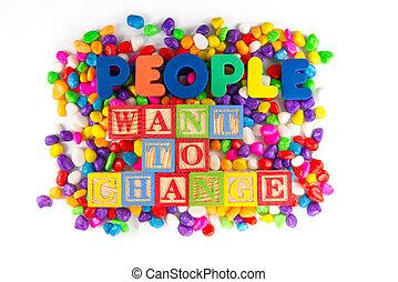 pessoas, querer, para, mudança