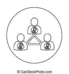 pessoas, rede, ícone