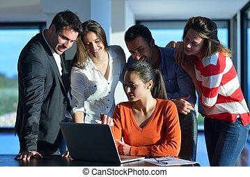 pessoas, reunião, equipe negócio