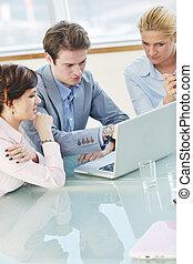pessoas, reunião, grupo, negócio