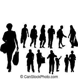 pessoas rua, grupo