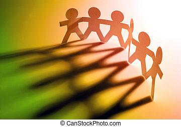 pessoas, segurando mão