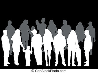 pessoas, silhuetas