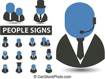 pessoas, sinais