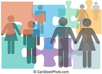 pessoas, singles, divórcio, pares, casamento, aconselhar
