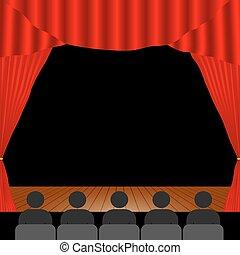 pessoas, teatro