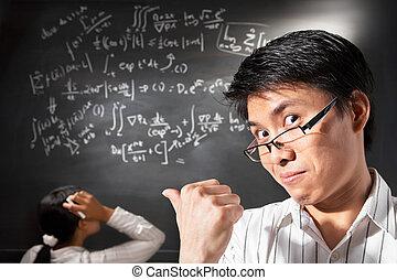 pessoas, trabalhando, fundo, pose, estudante, macho