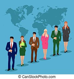 pessoas, vetorial, negócio