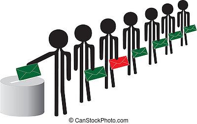 pessoas, votando
