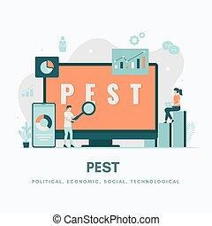 PEST Analysis Illustration concept