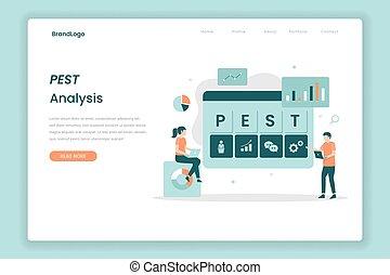 PEST Analysis landing page concept