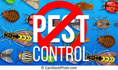 Pest control disinsection service vector poster