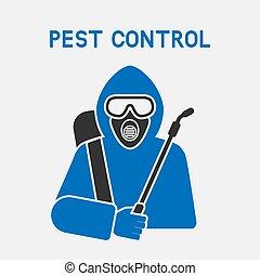 Pest Control Exterminator in protective suit