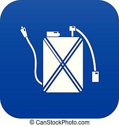 Pest control icon blue vector
