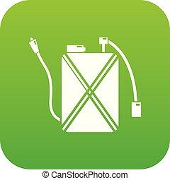 Pest control icon green vector