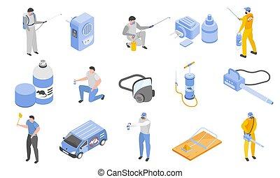 Pest Control Icons Set