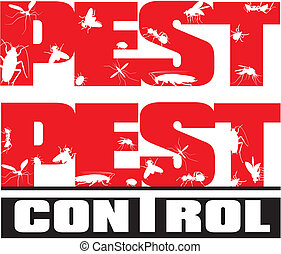 pest control - insects - household insects pests - sign and...
