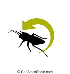 pest control logo design vector insect protection examination icon template illustration
