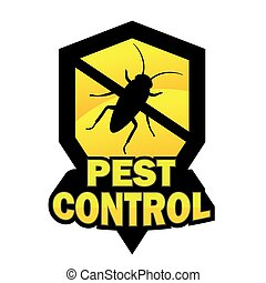 Pest control logo on white background