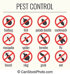 Pest control prohibition signs