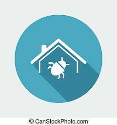 Pest control service - Vector web icon