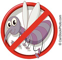Pest control sign no mosquito