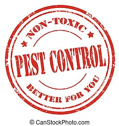 Pest Control-stamp - Grunge rubber stamp with text Pest...