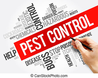 Pest Control word cloud collage