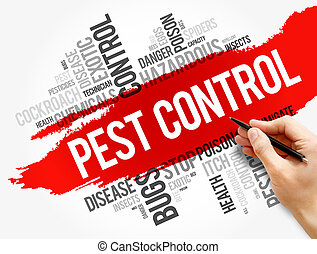 Pest Control word cloud collage, health concept