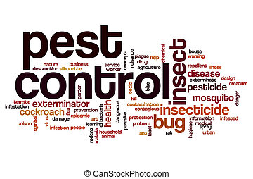 Pest control word cloud concept