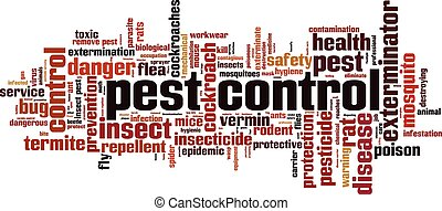 Pest control word cloud concept. Vector illustration