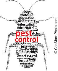Pest Control Word Cloud Vector Illustration