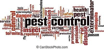 Pest control.eps - Pest control word cloud concept. Vector...