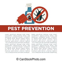 Pest prevention means informative poster with sample text