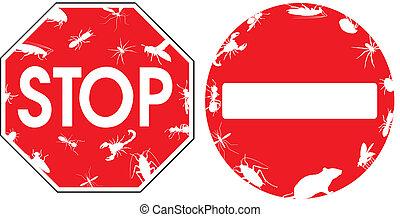 pest - warning signs