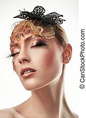 Pestañas, falso, Maquillaje, creativo