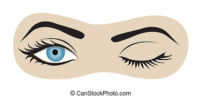 pestanejo, olhos