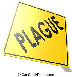 peste, panneaux signalisations