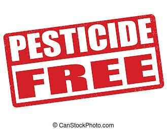 Pesticide free stamp - Pesticide free grunge rubber stamp on...