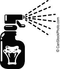 Pesticide icon, simple style