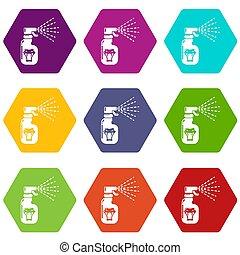 Pesticide icons set 9