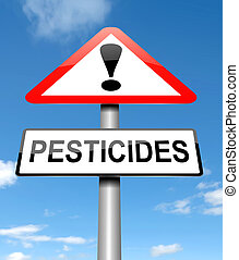 Illustration depicting a sign with a pesticides concept.